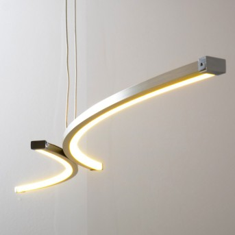 Glenwood pendant light LED matt nickel, chrome, 2-light sources