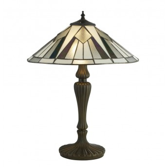 Table Lamp Searchlight GATSBY black, white, bronze, transparent, clear, 2-light sources