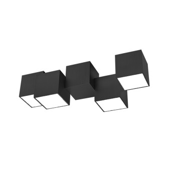 Grossmann ROCKS Ceiling Light LED black, 4-light sources