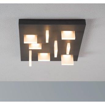 Escale SHARP ceiling light LED anthracite, 9-light sources