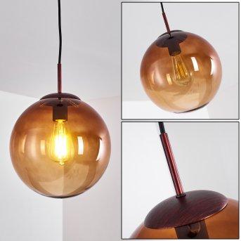 Pendant Light Degevos brown, 1-light source