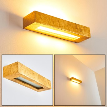 PAGLIA Wall Light gold, 2-light sources