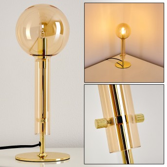 IKEDA Table Lamp gold, 1-light source