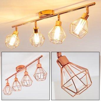 FERRAND Ceiling light LED copper, 4-light sources