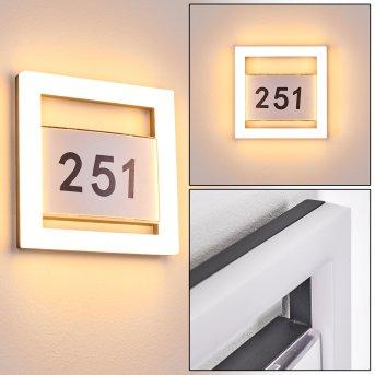 Linna House number Light LED white, 1-light source