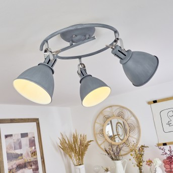 KOPPOM ceiling light blue, grey, 3-light sources