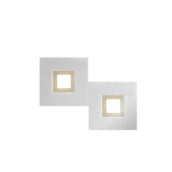 Grossmann KARREE Ceiling light LED aluminium, champagne, 2-light sources