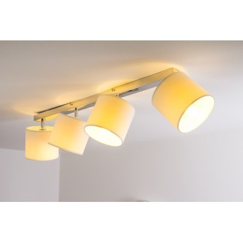 Brilliant Sandra ceiling light chrome, 4-light sources