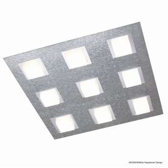 Grossmann BASIC Ceiling Light LED aluminium, 9-light sources