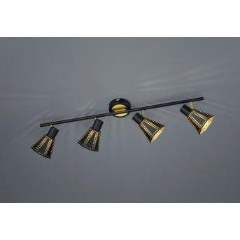 Trio-Leuchten Houston Ceiling Light black, 4-light sources