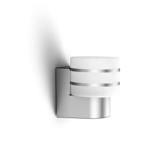 Philips HUE WHITE TUAR Wall Light LED silver, aluminium, 1-light source