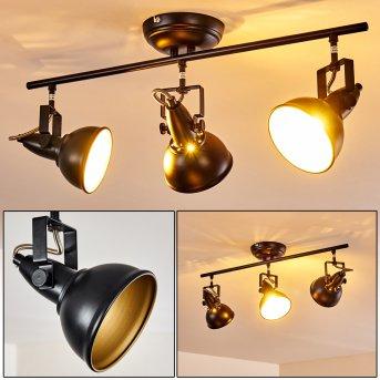 Ceiling Light Tina black, 3-light sources