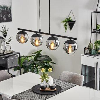 Agropoli Pendant Light black, 4-light sources