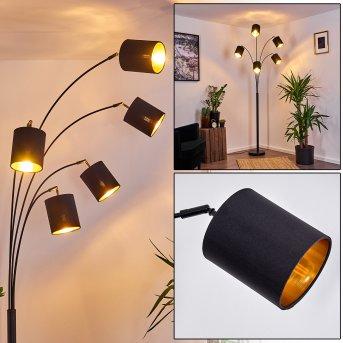 BHUTAN Floor Lamp black, 5-light sources