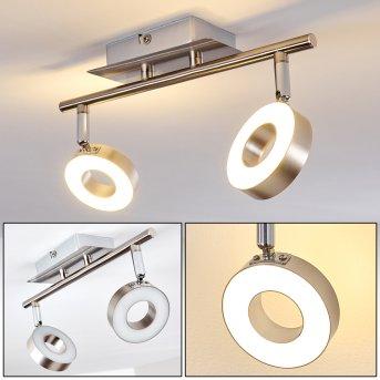 Russell ceiling spotlight LED matt nickel, chrome, 2-light sources