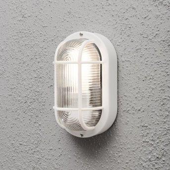 Konstsmide Elmas wall and ceiling light white, 1-light source