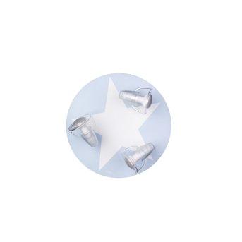 Waldi MIMBEL Ceiling light blue, white, 3-light sources