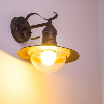 Broni outdoor wall light rust-coloured, 1-light source