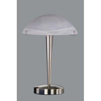 Trio 5925 table lamp matt nickel, 1-light source