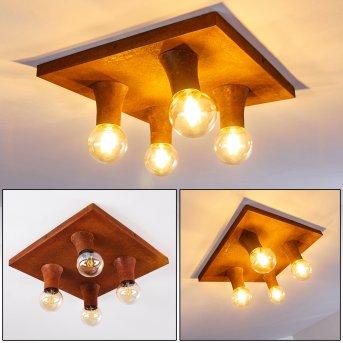 KIMSTAD Ceiling Light rust-coloured, 4-light sources