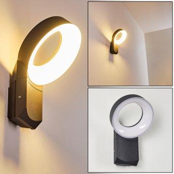 LUSAKA Outdoor Wall Light LED grey, 1-light source