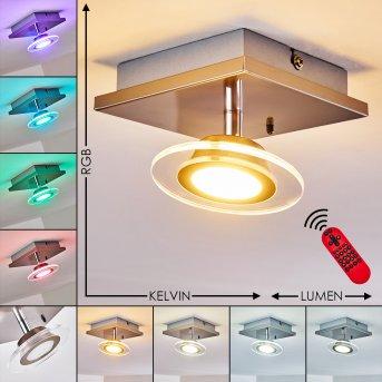 Marsen Ceiling Light LED matt nickel, 1-light source, Remote control, Colour changer