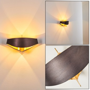 PADUA Wall Light brown, gold, 2-light sources