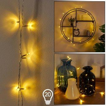 SONDRIO rope lights LED white, 20-light sources