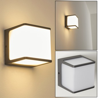 BUCKAU Outdoor Wall Light LED anthracite, white, 1-light source