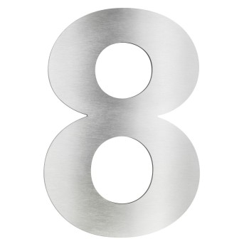 LCD house number 8 stainless steel