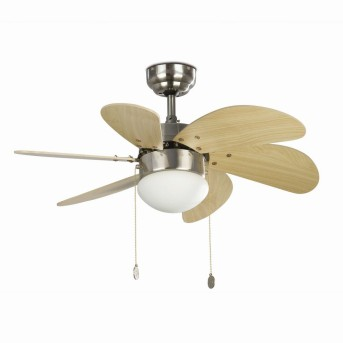 Faro Barcelona Palao Ceiling Fan with Lighting matt nickel, 1-light source