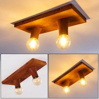 KIMSTAD Ceiling Light rust-coloured, 2-light sources