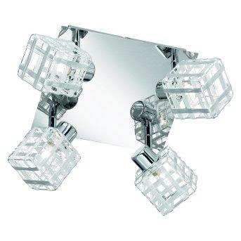 Reality ceiling light chrome, 4-light sources