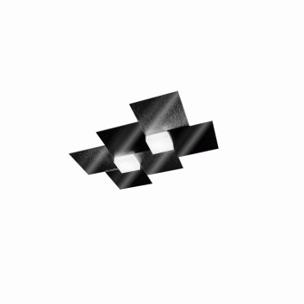 Grossmann CREO Wall and Ceiling Light LED black, 2-light sources