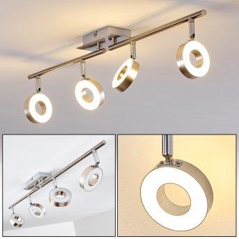 Sarnia ceiling spotlight LED matt nickel, chrome, 4-light sources