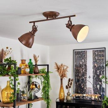 KOPPOM ceiling light rust-coloured, 2-light sources