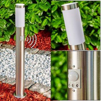 Path light Norburg stainless steel, 1-light source, Motion sensor