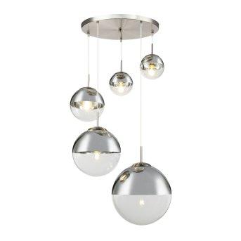 Globo VARUS Pendant Light matt nickel, 5-light sources