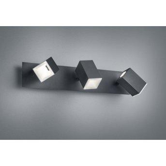 Trio LAGOS Wall Light LED black, 3-light sources