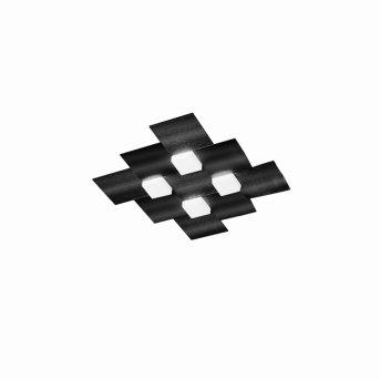 Grossmann CREO Ceiling Light LED black, 4-light sources