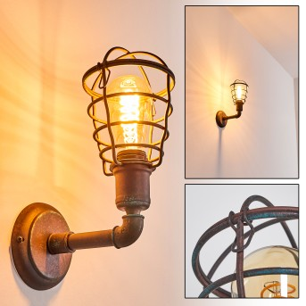 TAGGIA Wall Light rust-coloured, 1-light source