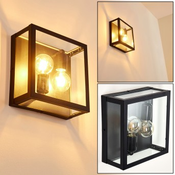 Caudry Outdoor Wall Light black, 2-light sources