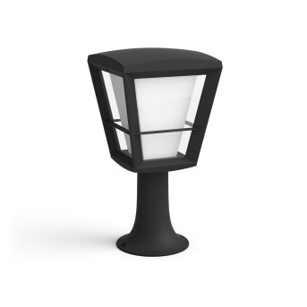 Philips HUE AMBIANCE WHITE & COLOR ECONIC pedestal light LED black, 1-light source, Colour changer
