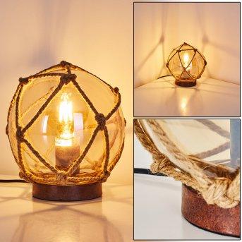 Table Lamp Eslov rust-coloured, brown, 1-light source