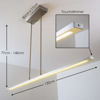San Miguel pendant light LED matt nickel, 1-light source