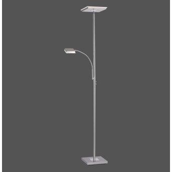 Leuchten Direkt HANS Floor Lamp LED stainless steel, 2-light sources