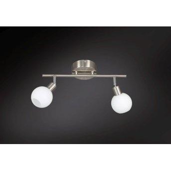 Wofi NOIS ceiling light LED matt nickel, 2-light sources