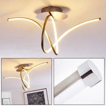 Globo ceiling light LED matt nickel, 1-light source