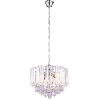 Globo chandelier clear , chrome, 4-light sources