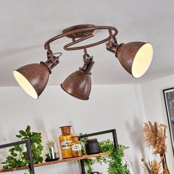 KOPPOM ceiling light rust-coloured, 3-light sources